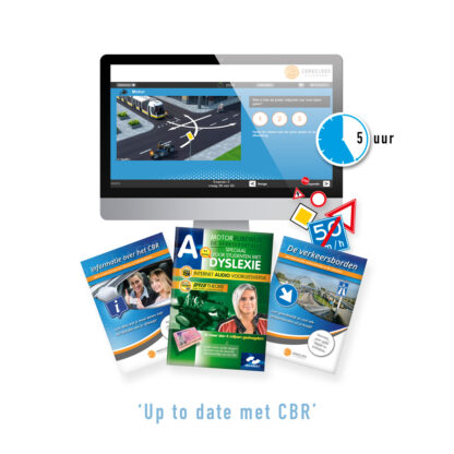 Motor Theorie Dyslexie - Online Motor Voorleesboek met 5 Uur Online Motor Theorie Oefenen, CBR Informatie en Verkeersborden